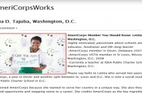 Letitia Tajuba, Capital Cause Co-Founder, Featured in Americorps – Feb 2013